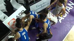 درگیری شدید در دیدار بسکتبال قطر - چین تایپه