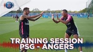 تمرین پاریسی ها قبل از بازی با آنژه