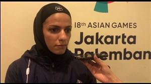 مصاحبه خاکسار بعد از کسب مدال نقره در کاراته