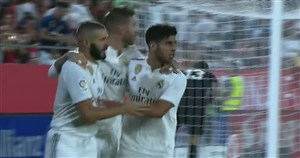 گل دوم رئال مادرید به خیرونا توسط بنزما (پنالتی)