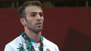 مراسم اهدای مدال طلای بهمن عسگری