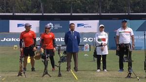 کسب مدال برنز رشته تیم میکس کامپوند تیر و کمان