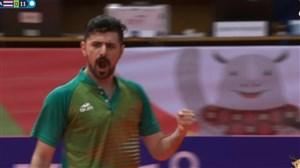 پیروزی قاطع نیما عالمیان در تنیس روی میز