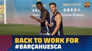 تمرینات ریکاوری بازیکنان بارسلونا (05-06-97)