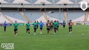 آخرین تمرین السد قبل از بازی با استقلال در آزادی