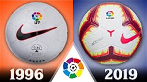 تمام توپ های رسمی لیگ لالیگا از 1996 تا 2019
