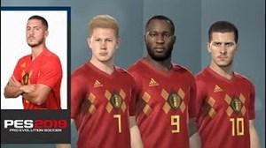 چهره و قدرت ستارگان بلژیک در بازی PES2019