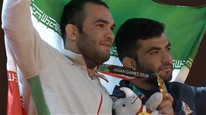 مراسم اهدای مدال طلا و برنز  کوراش به علی اکبری و تیزتک
