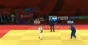 کسب مدال برنز محمد محمدی با ضربه فنی حریف کره شمالی