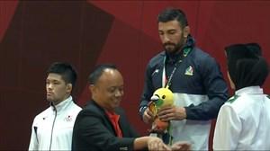 مراسم اهدای مدال برنز بریمانلو در رشته جودو