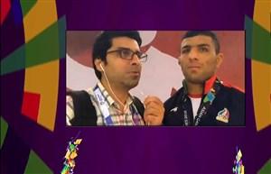گفتگو با سعید ملایی پس از کسب مدال نقره
