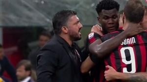 خوشحالی جالب گتوزو و بازیکنان میلان پس از پیروزی