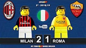 شبیه سازی لگو بازی آث میلان - آ اس رم