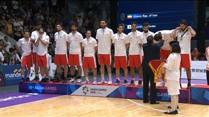 اهدای مدال نقره به تیم ملی بسکتبال ایران (جاکارتا 2018)