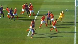گل فوق العاده دی ماریا از روی نقطه کرنر به نیم المپیک