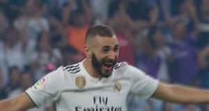 گل دوم رئال مادرید به لگانس توسط کریم بنزما