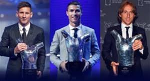 کاندیدا و برندگان برترین بازیکن اروپا از سال 18-2010
