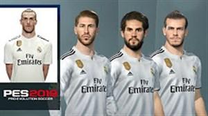 قدرت و چهره بازیکنان رئال مادرید در PES 2019