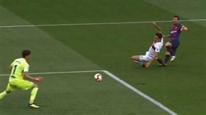 گل اول بارسلونا به اوئسکا (مسی)