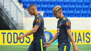 تمرین امروز بازیکنان تیم ملی برزیل
