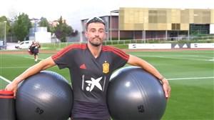 تمرینات تیم ملی اسپانیا با حضور لوئیس انریکه