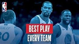 بهترین حرکت هر تیم در بسکتبال NBA فصل 18-2017