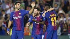 گل اول بارسلونا با ضربه ایستگاهی زیبای مسی به آیندهوون