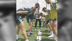 چالش جالب سرعت عمل بازیکنان رئال مادرید