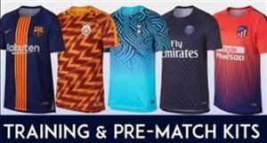 لباس تمرین برترین باشگاه های اروپا