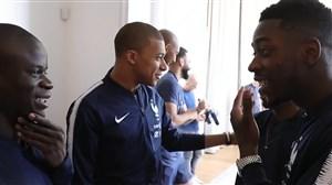 حواشی تمرینات تیم ملی فرانسه قهرمان جام جهانی 2018