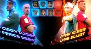 چالش جالب بین بازیکنان بایرن مونیخ و ستارگان NFL