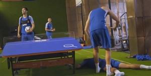 تنیس فوتبال جالب بازیکنان چلسی