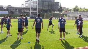 تمرینات امروز بازیکنان تیم ملی اسپانیا (15-06-97)