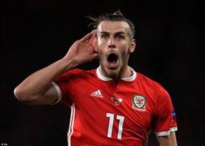 تک گل گرت بیل به تیم ملی دانمارک