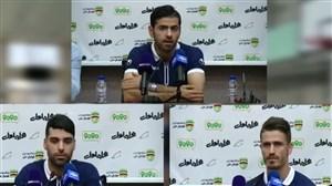 نشست مطبوعاتی بازیکنان تیم ملی پیش از تمرین امروز تیم ملی