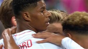 گل اول انگلیس به اسپانیا ( راشفورد )