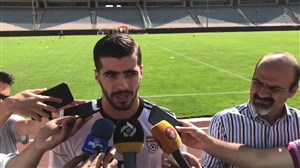 صحبتهای عزت اللهی در حاشیه تمرین تیم ملی