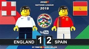 شبیهسازی لگو دیدار انگلیس - اسپانیا
