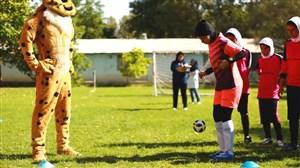 هنرنمایی دحتران در چهارمین فستیوال ملی فوتبال پایه