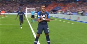 گل اول فرانسه به هلند (امباپه)