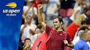 5 امتیاز برتر راجر فدرر در مسابقات تنیس آزاد آمریکا