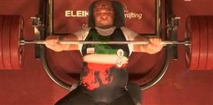 کسب طلای وزن 97 کیلو توسط حامد صلحی پور(معلولین آسیا)