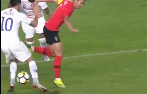 حرکت فوقالعاده سونهیونگمین در بازی با شیلی