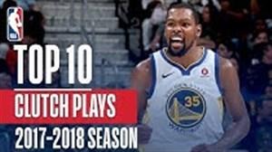 10 شوت برتر کلاچ در بسکتبال NBA 2018