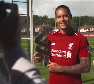 ویرجیل فندایک بهترین بازیکن لیورپول در ماه آگوست لیگ جزیره