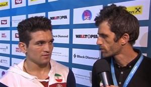 مصاحبه با رضا علیپور پس از قهرمانی در جهان