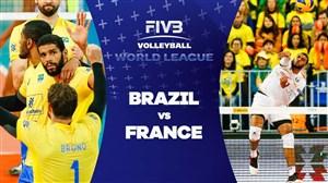 خلاصه والیبال برزیل 3 - فرانسه 2 ( قهرمانیجهان)