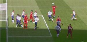 گل اول لیورپول به تاتنهام ( وینالدوم)