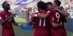 گل دوم لیورپول به تاتنهام ( روبرتو فیرمینو)