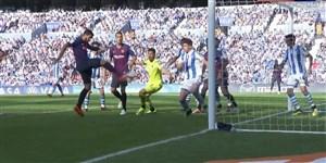 گل اول بارسلونا به رئال سوسیداد (سوارز)